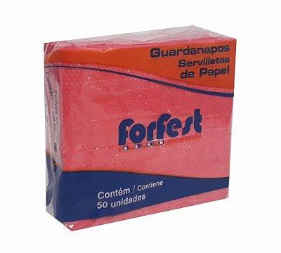 Guardanapo Forfest - 20 x 22 cm - vermelho - 50 unidades
