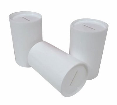 Cofrinho Branco 10cm