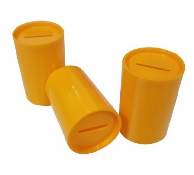Mini Cofrinho Amarelo - 10 unidades