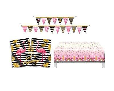 Kit Decoração de Festa - Flamingo