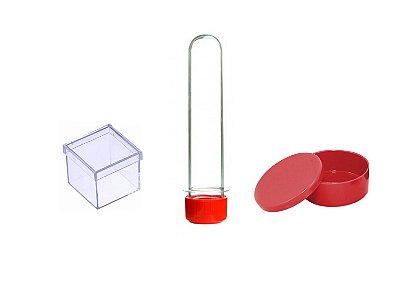 Kit Lembrancinha Para Personalizar -  Vermelho - 30 Peças
