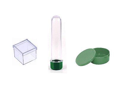 Kit Lembrancinha Para Personalizar -  Verde - 30 Peças