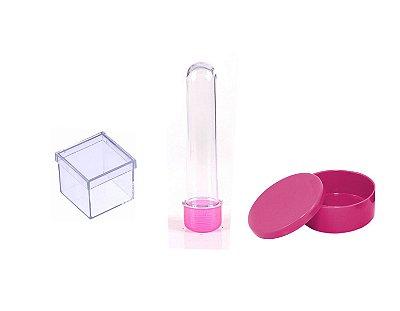 Kit Lembrancinha Para Personalizar -  Rosa Pink - 30 Peças
