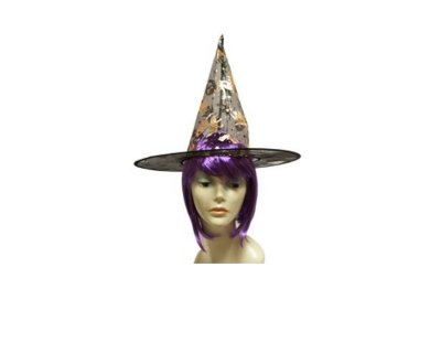 Chapéu de Bruxa Organza - Preto