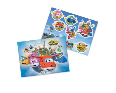 kit Decorativo para festa Painel -  Super Wings