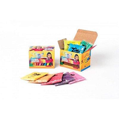Pó Colorido Zim - Caixa com 8 Cores - 50g