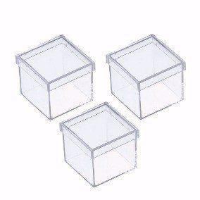 Caixa acrílica  3x3 - Pacote com 10 unidades