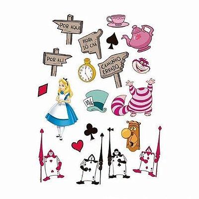 Mini Personagens - Alice no País das Maravilhas - 20 unidades