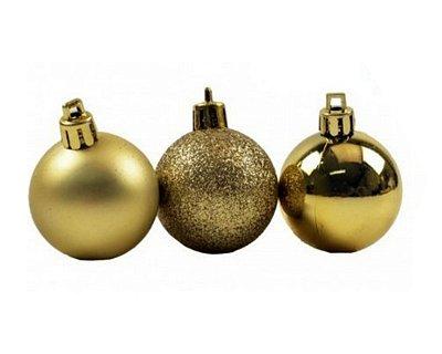 Bola de Natal N°7 - Sortido - Dourada