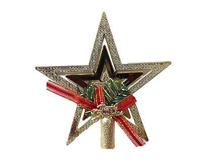 Estrela de Natal  Ponteira - Merry Christmas