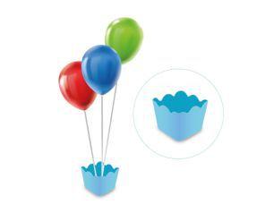 Cachepot com pega balão - Azul Bebê
