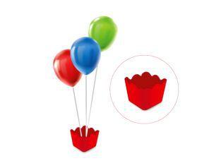 Cachepot com pega balão - Vermelho