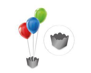 Cachepot com pega balão - Metalizado Prata