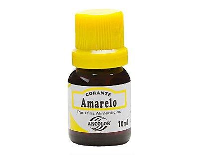 Corante líquido 10ml - Amarelo