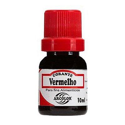 Corante líquido 10ml - Vermelho