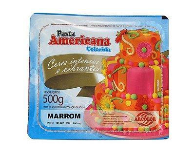 Pasta Americana Colorida - Marrom 500g
