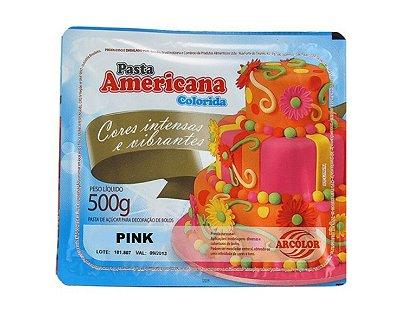 Pasta Americana Colorida - Pink 500g
