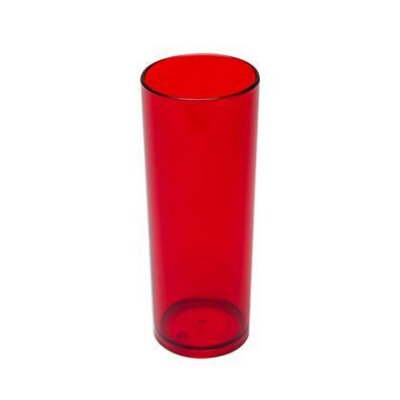 COPO ACRÍLICO LONG DRINK 300ML - VERMELHO