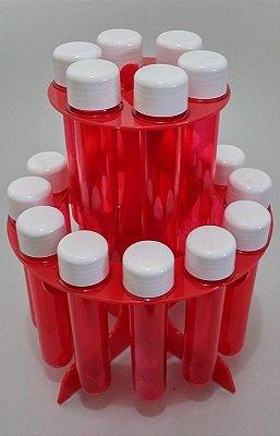 Porta Tubetes de Acrílico Vermelho - 18 Cav