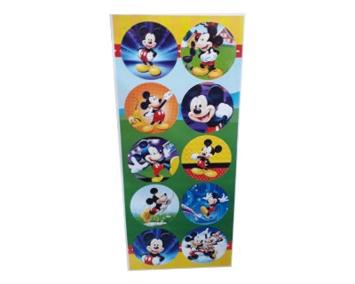 Adesivos Redondo Mickey - Cartela com 30