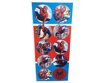 Adesivos Redondo Homem Aranha - Cartela com 30