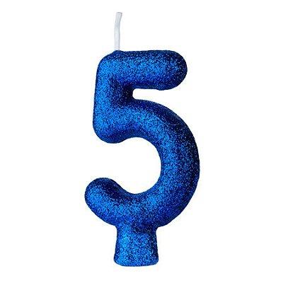 Vela Cintilante nº5 Azul