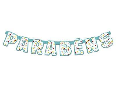 Faixa Parabéns- Festa Colors - Confetti