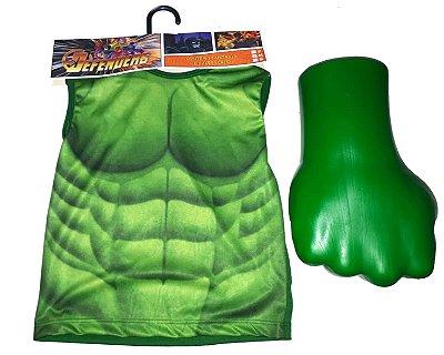 Kit Hulk Fantasia - Blusa + Luva - G
