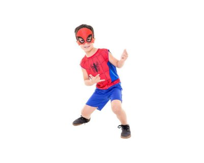 Fantasia Avengers - Homem Aranha Pop M