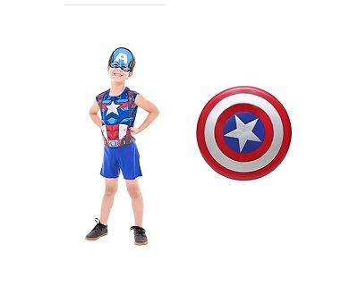Fantasia Infantil - Capitão América com Escudo POP - G