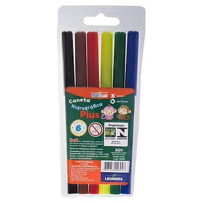 Canetinha Hidrográfica Plus 6 cores