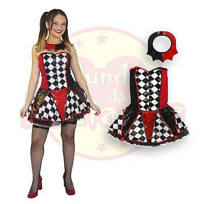 Fantasia Arlequina vestido Adulto G