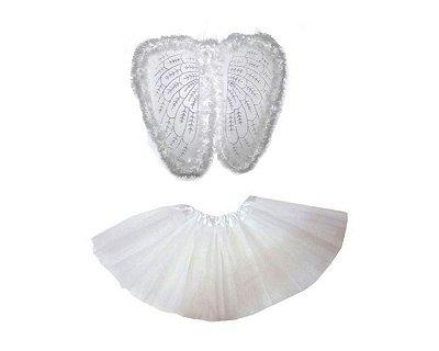Fantasia Carnaval  Feminina - Anjo Branco