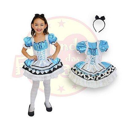 Fantasia Infantil Alice no Pais das Maravilhas -6 anos