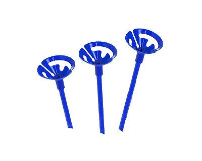 Suporte Pega Balão -  Azul com 10 unidades