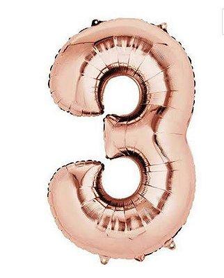 Balão Metalizados Rose Gold 40cm - Nº3