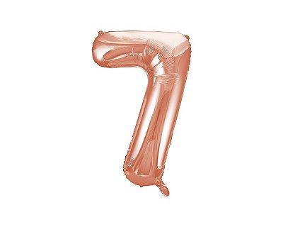Balão Metalizados Rose Gold 40cm - Nº7
