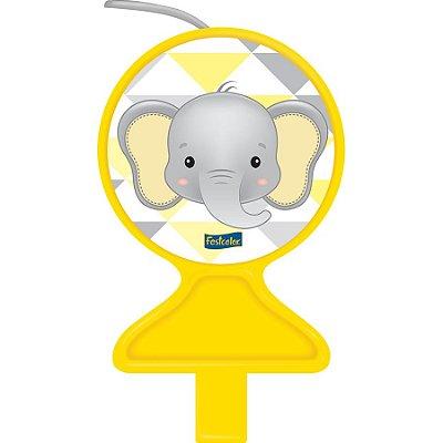 Vela de aniversário Elefantinho Amarelo