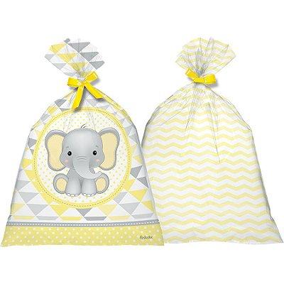 Sacola Surpresa Plástica - Elefantinho Amarelo - 8 und