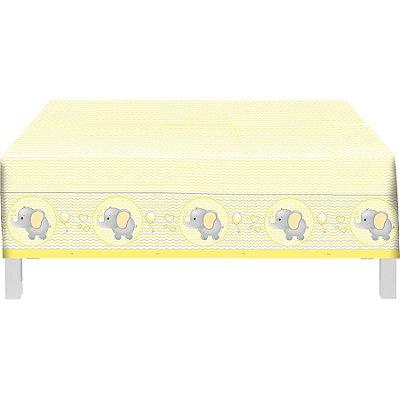 Toalha de Mesa Plástica Elefantinho Amarelo
