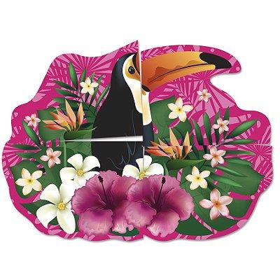 Painel Decorativo Cartonado Tucano Tropical