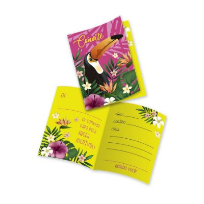 Convite - Tucano Tropical - 08 unidades
