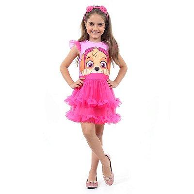 Fantasia Infantil Patrulha Canina - Skye Luxo - M