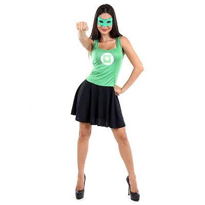 Fantasia  - Lanterna Verde Verão Adulto - M