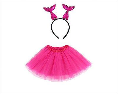 Fantasia Carnaval  Feminina - Sereia Rosa