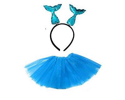 Fantasia Carnaval  Feminina - Sereia Azul