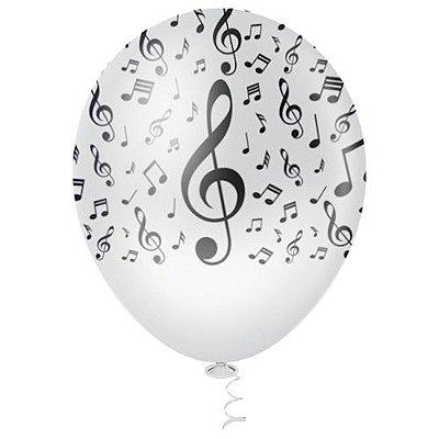 Balão Latex n° 10 - Nota Musical com 25 und