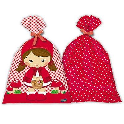 Sacola Surpresa Plástica - Chapeuzinho Vermelho - 8 und