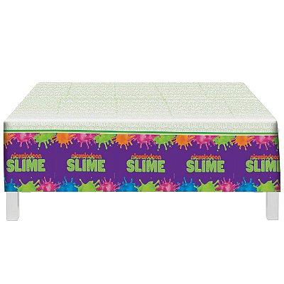 Toalha de Mesa Plástica - Festa Slime