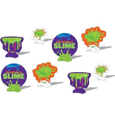 Decoração de Mesa - Festa Slime - 08 unidades